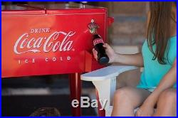 Coca Cola Cooler With Lid Large 80 Qt Party Drink Coke Ice Chest Portable Metal