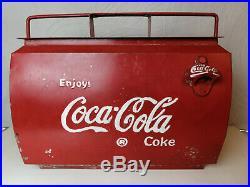Coca Cola Kühlbox mit Flaschenöffner vintage Metall Kühlbehälter Picknick Cooler