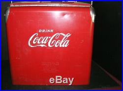 Coca-Cola Metal Cooler, Acton Mfg. Co. With Drain Plug & Built-in Bottle Opener