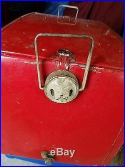 Coca-Cola vintage 1950 metal cooler