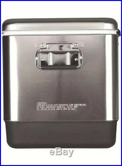 Coleman 54 Quart Stainless Steel Belted Cooler Heavy Duty Lifetime Warranty New