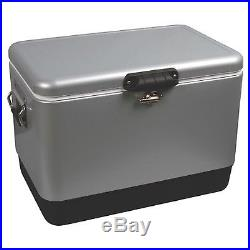 Coleman 54 Quart Stainless Steel Belted Cooler New