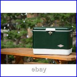 Coleman 54 Quart Steel Belted Portable Cooler, Green