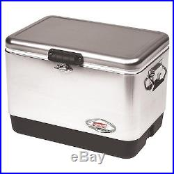 Coleman 54qt Stainless Steel Belted Cooler