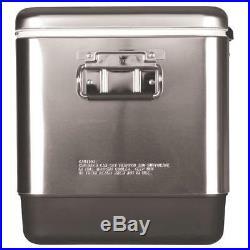 Coleman 6155B707 54-Quart Comfort-Grip Stainless Steel Cooler Silver