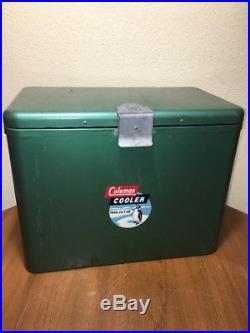 Coleman Metal Green Penguin Logo Steel Model 632 Cooler Opener Ice Block Shield