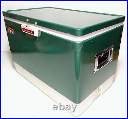Coleman Snow Lite Vintage 13.5 Gallon Cooler Ice Chest W Tray Bottle Openers MCM