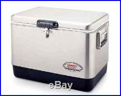 Coleman Stainless Steel Cooler Beverage Outdoor Picnic Party Tailgating Camping