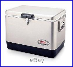 Coleman Stainless Steel Cooler Beverage Outdoor Tailgating Camping Picnic Party