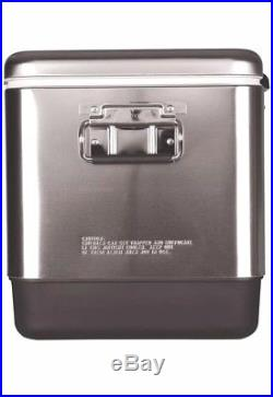 Coleman Steel Belted Cooler 54 Quart Heavy Duty Stainless Steel Portable New