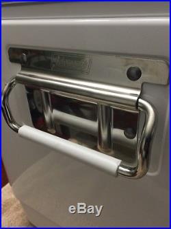 Coleman Steel Belted Miller Lite Carolina Panthers Metal Cooler 22x16x15
