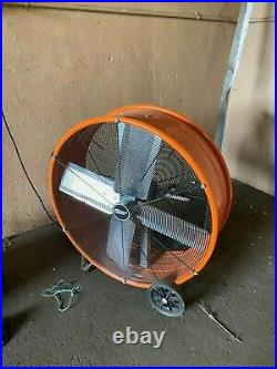 Commercial Electric BF30DDCE 30 inch Direct Drive Tilt Drum Fan Orange