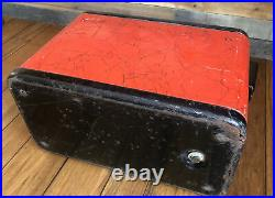 Cooler Kampkold Aluminum Ice Chest Red Black Kamplite Kampkook Kooklite Vintage