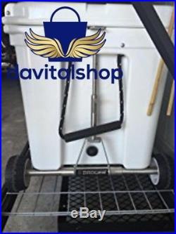 Cooler Single Axle Yeti Tundra Keep Cold Bag Ice Wheel Lock Box Rolling Camping