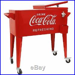 Cooler Vintage Coke Ice chest Metal S Red Drink Anique 1950 Bottle Opener Retro