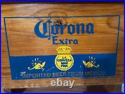 Corona Extra Cerveza Beer SIGN Wood Metal Insulated Cooler 35# 24 bottles case