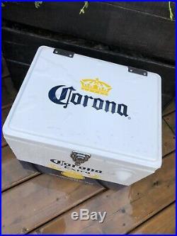 Corona metal coolerMetal Corona Beer Cooler. NEW. Stainless Steel. Vintage