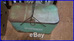 DR PEPPER METAL CHEST SODA BOTTLE COOLER light green Vintage Antique no reserve