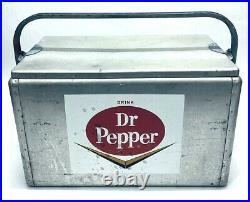 Dr Pepper Aluminum Cooler (after 1950) Advertising Logo Metal display decor soda