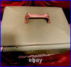 Dr Pepper Vintage 1950's All Metal Picnic Cooler Classic / Complete With 2 Trays