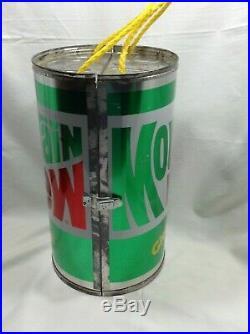 EHCO Inc VERY RARE Mountain Dew Metal Can Cooler
