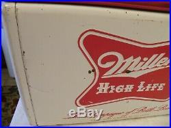 Embossed Metal Double Sided Vintage Miller High Life Beer Cooler Miller Brewing