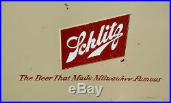Excellent Vintage Mid Century Retro Cronstroms Metal Schlitz Beer Picnic Cooler