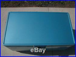 Fantastic Vintage Coleman Metal Cooler Blue&White