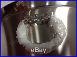 Frontgate Metal Ice Bucket With Bottle Opener Antique Silver Wine Beer Cooler NIB