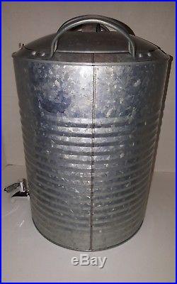 Galvanized Drink Dispenser 3 Gallon Beverage Cooler Milk Water Outdoor PartyNEW