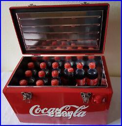Getränke Retro Cooler! Nostalgischer Werkzeugkiste-Toolbox in Rot und aus Metall