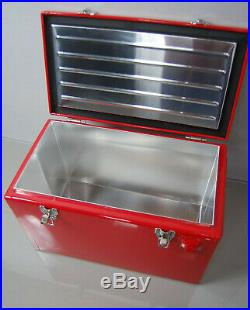 Getränke Retro Cooler! Replika Werkzeugkiste-Toolbox Rot Coca Cola Design Metall