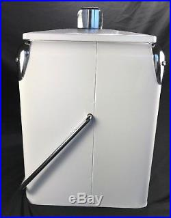 Grapette Retro-Products Classic Cooler With Bottle Opener White Metal Ltd Edition