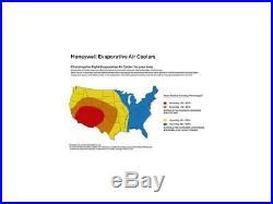 Honeywell CS071AE 176 CFM Indoor Evaporative Air Cooler, White