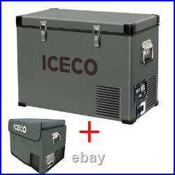 ICECO 47QT Portable Car Freezer Fridge Compact Refrigerator Cooler With Cover