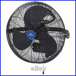 ILiving ILG8E18-15 18 Inch Wall Mounted Adjustable Outdoor Waterproof Fan, Black