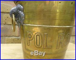 Ice Bucket Champagne Bucket Cooler Art Deco Pol Roger Vintage