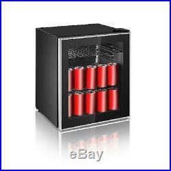 Igloo 70 Can Beverage Wine Cooler Mini Refrigerator Fridge Door Soda Beer Glass