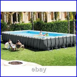Intex 24ft x 12ft x 52in Ultra XTR Rectangular Pool, Floats (2 Pack), & Cooler