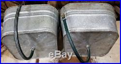 JOHNSON Vintage DOUBLE WASH TUBS cooler, planter, country garden, casters+