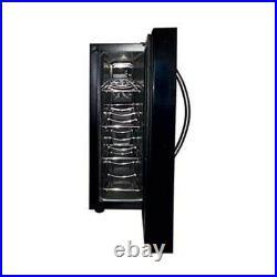 Koblenz 4 Bottle Freestanding Wine Cooler Fridge with LED Touch Controls, Black