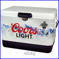 Koolatron 54 Quart Coors Light Portable Ice Chest Hard Cooler with Bottle Opener