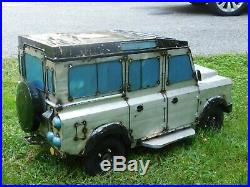 LAND ROVER CUSTOM CRAFTED METAL PORTABLE BEVERAGE COOLER unique hard to find