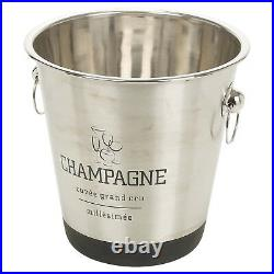 Large Stainless Steel Champagne Metal Party Bowl Wine Beer Ice Cooler Bucket NEW