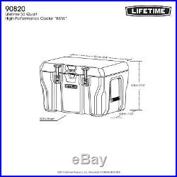 Lifetime 55 Quart High Performance Cooler, Grey