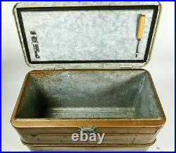 Little Brown Chest Antique Ice Box Chest Cooler Hemp & Co. Metal Vintage