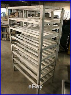 Lot of 2 Metals Inc Aluminum 48 x 24.5 Commercial Walkin Cooler Storage Racks