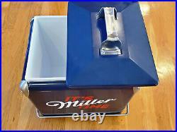 MILLER LITE Vintage PROMO Custom Metal cooler, BRAND NEW! Foster & Rye RARE