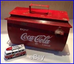 Metal Coca Cola Coke Drinks Cooler 1950's CLASSIC CAR VW Split screen Vintage