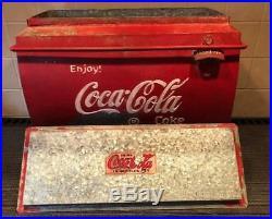 Metal Coca Cola Coke Drinks Cooler 1950s CLASSIC CAR VW Split screen Vintage